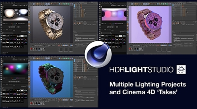 Multiple Lighting Projects with Cinema 4D Takes