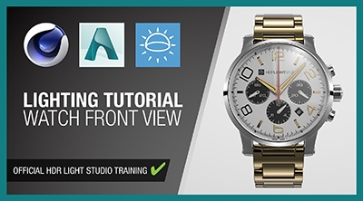 Cinema 4D and Arnold - Watch Front View