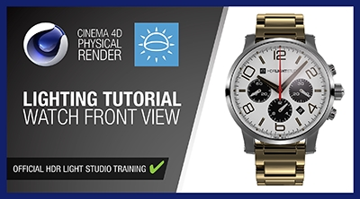 Cinema 4D and Physical Render - Watch Front View