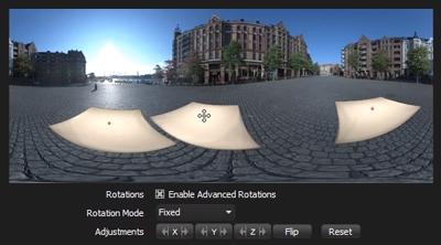 Advanced Rotations for lights on HDRI Maps