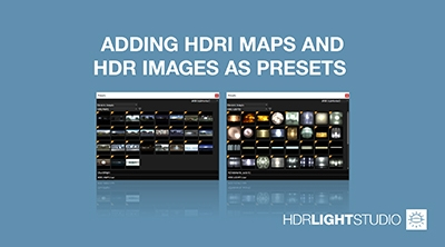 6. Adding HDRI Maps and HDR Images as Presets
