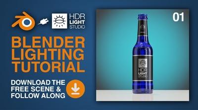 Blender Lighting Tutorial 01: Lighting the Bottle