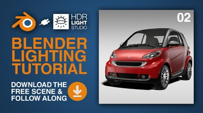 Blender Lighting Tutorial 02: Smart Car Studio Lighting