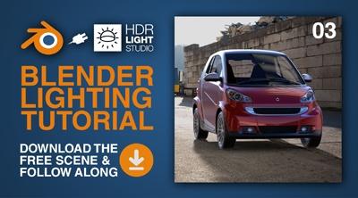 Blender Lighting Tutorial 03: Smart Car - Enhancing a HDRI Map