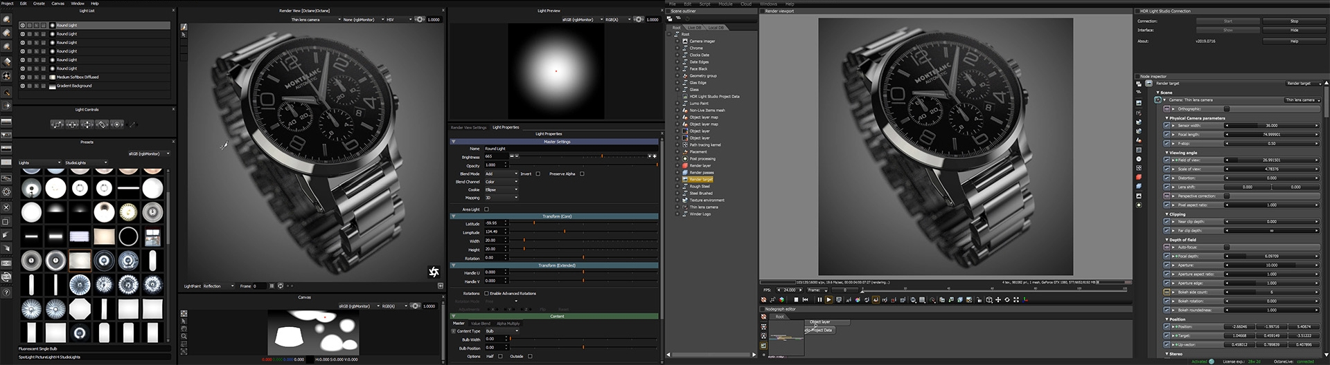 HDR Light Studio connected to Octane Standalone