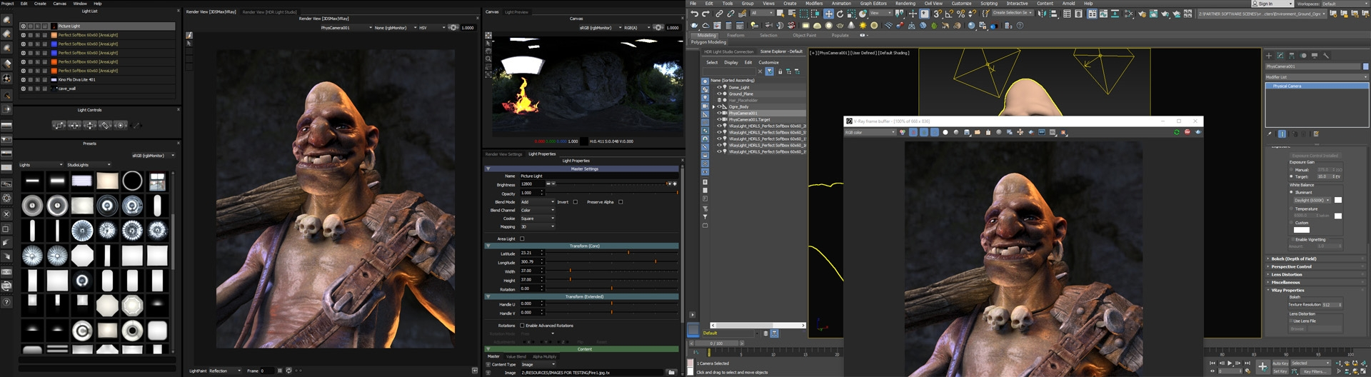 HDR Light Studio connected to 3ds Max