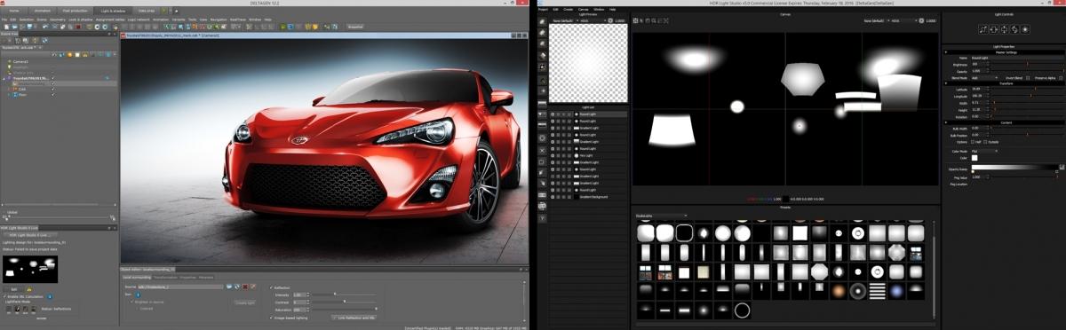 HDR Light Studio with DeltaGen